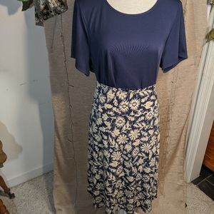 Lularoe skirt & Coldwater Creek top